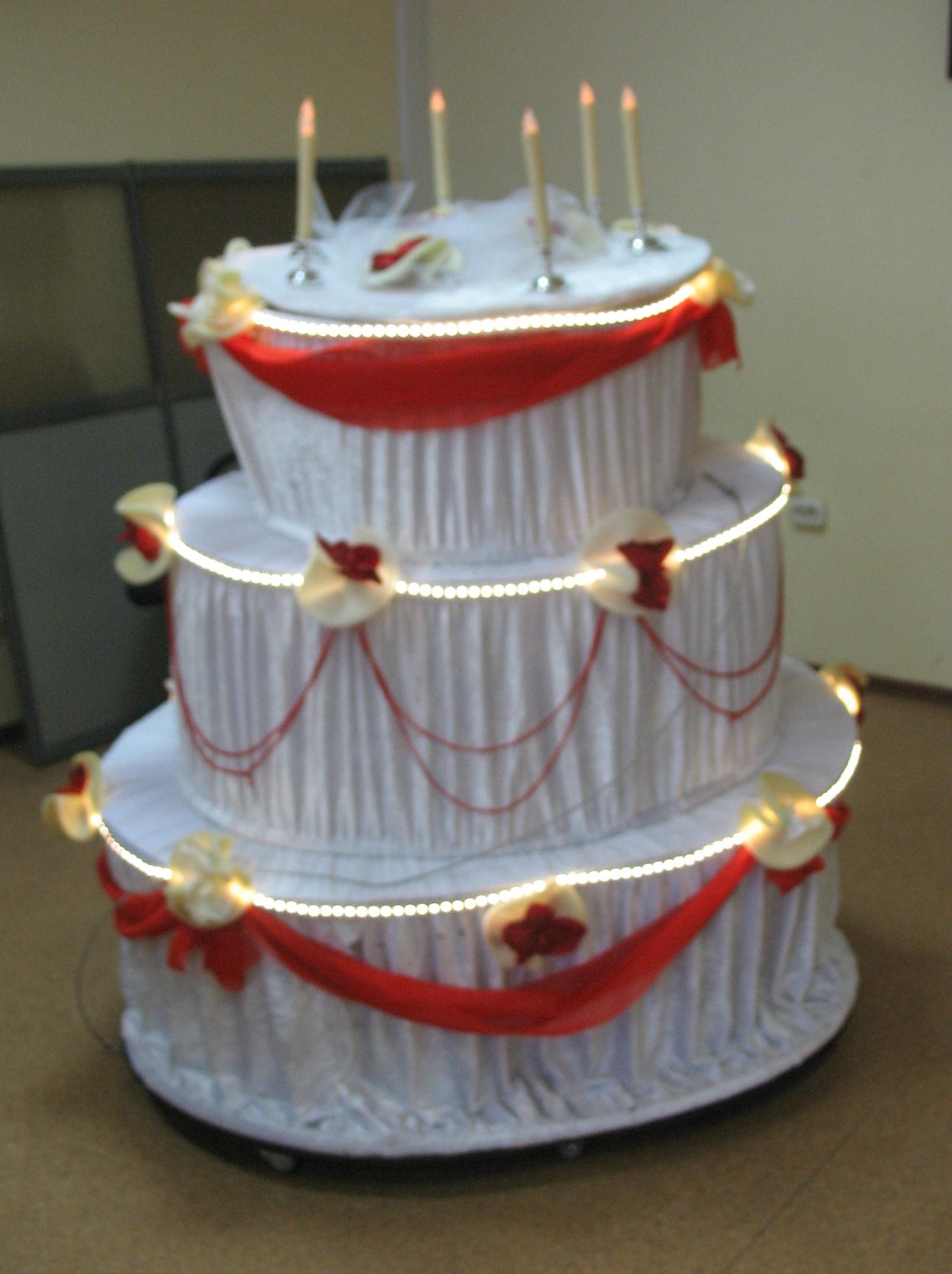 торт светодиодный со свечами